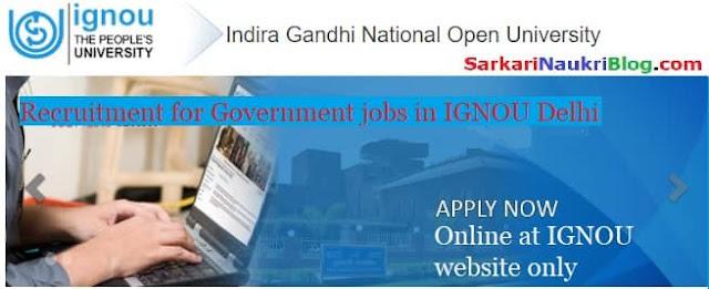 Government Jobs IGNOU Delhi