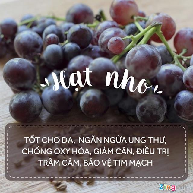 Những hạt trái cây có lợi cho sức khoẻ của bạn