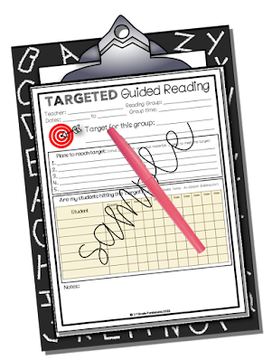 Targeted Guided Reading Plan Sheet