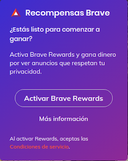 Recompensas de Brave Browser