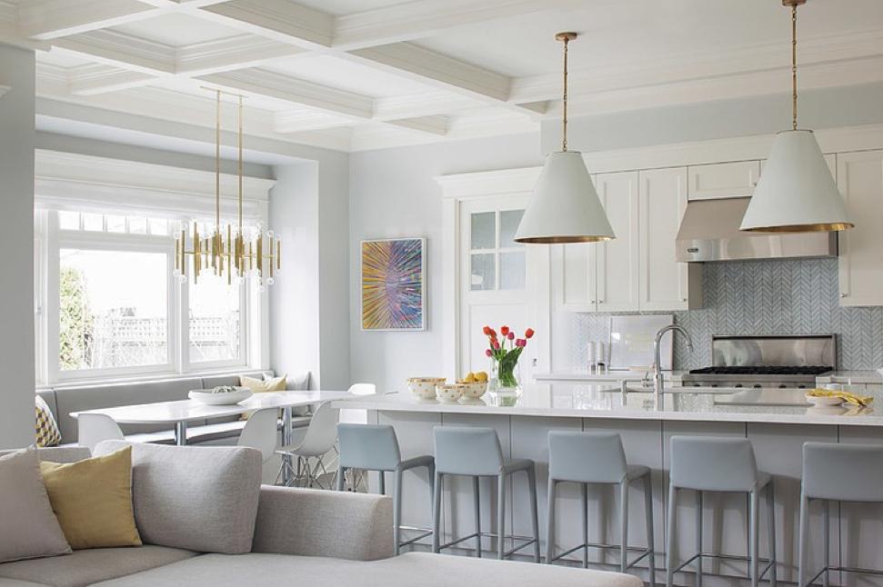 Design Dilemma Coordinating Kitchen Island And Breakfast Nook Lights