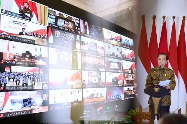 Presiden Jokowi  Berikan 3 Arahan untuk BPKP dan Pengawas Internal Pemerintah