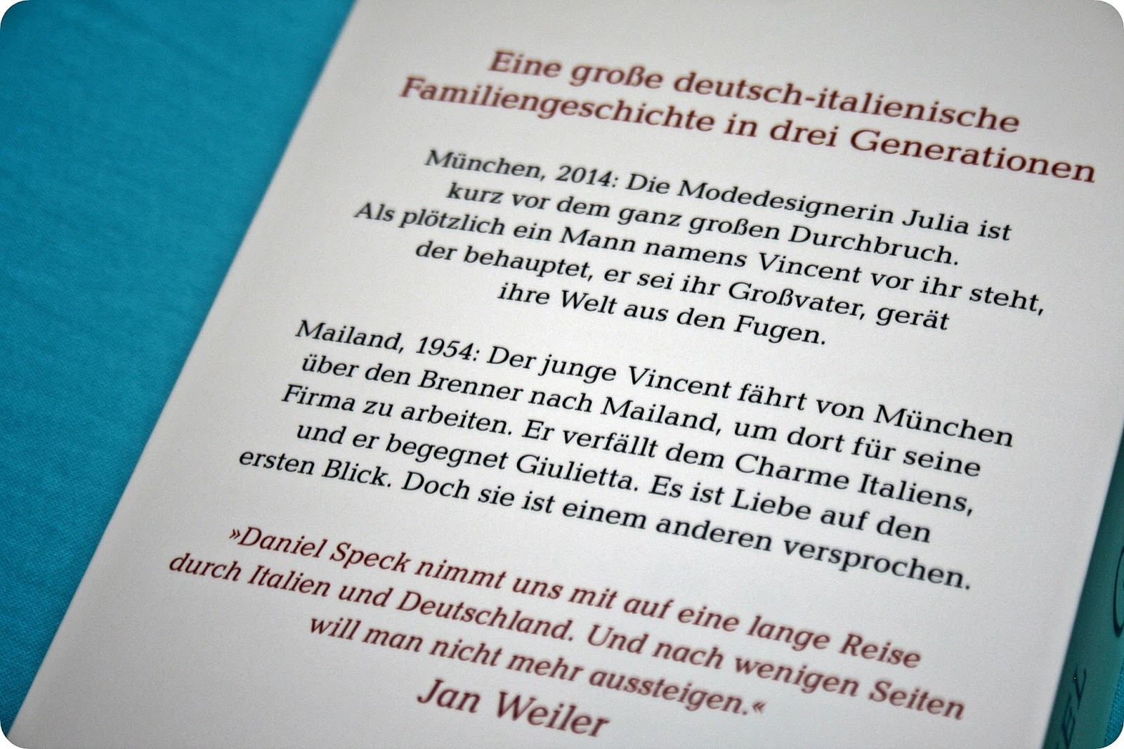Rezension Bella Germania Von Daniel Speck Buch Und Hörbuch Im