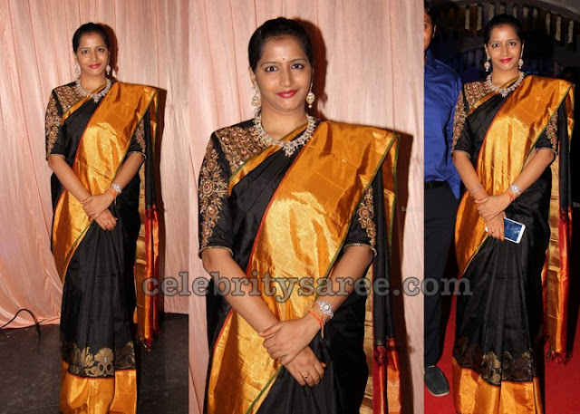 Black Silk Saree Heavy Border
