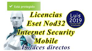 Licencias Eset Nod32 - Internet Security 2021 2024
