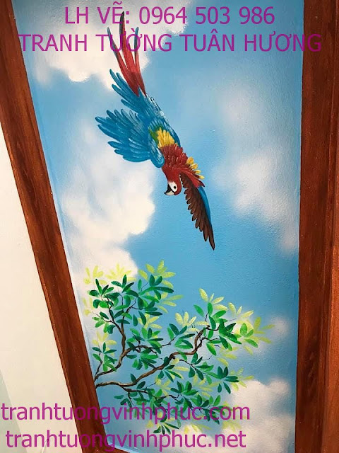 vẽ trần mây 3d tại vĩnh phượng bình xuyên vĩnh phúc43