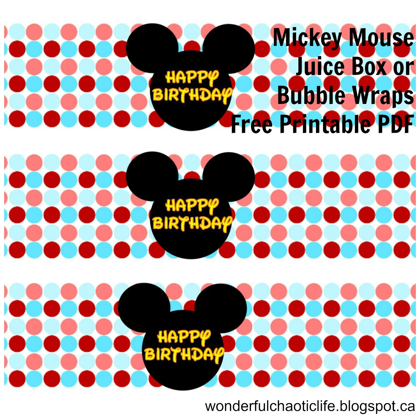It S My Wonderful Chaotic Life Mickey Mouse Birthday