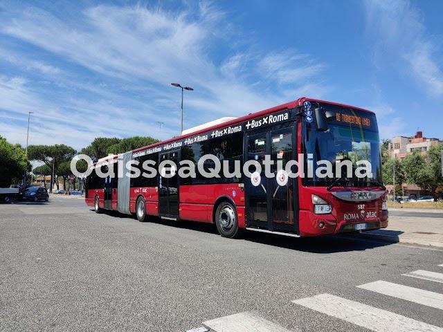 Atac: finalmente in servizio i nuovi bus snodati