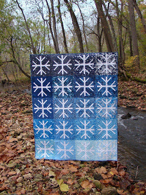 Snowfall Quilt Pattern by Laura Piland Slice of Pi Quilts