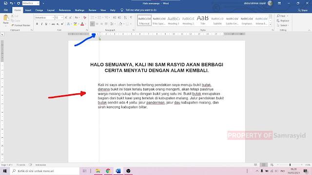 Cara Mengatur Jarak Paragraf di Microsoft Word