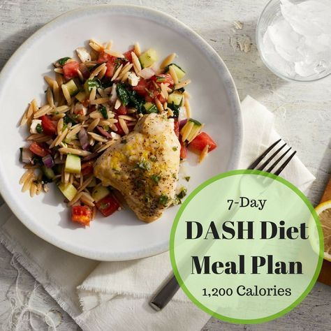 This 1,200-calorie DASH Diet meal plan to help lower your blood pressure, lose weight and prevent diabetes.
