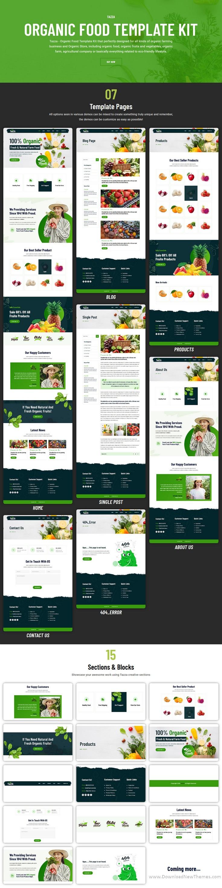 Organic Food Elementor Template Kit
