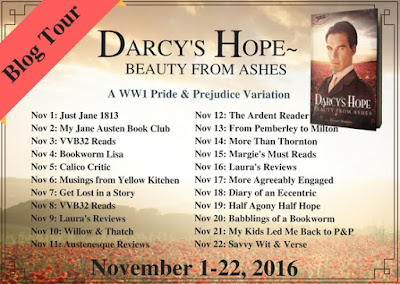 Blog Tour: Darcy's Hope - Beauty from Ashes by Ginger Monette