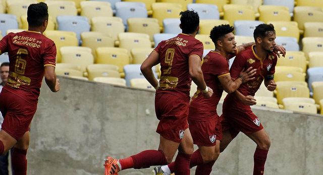 ad7076bcc8 Scarpa prefere não comemorar o gol do Fluminense. Foto  Mailson Santana -  Fluminense FC (Divulgação).