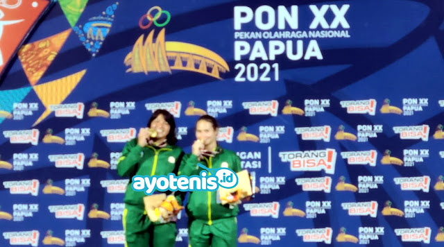 PON XX Papua: Hasil Cabor Tenis Ganda Putri Final