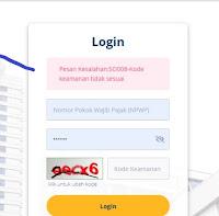 Trik mengatasi pesan kesalahan so008 djp online pajak