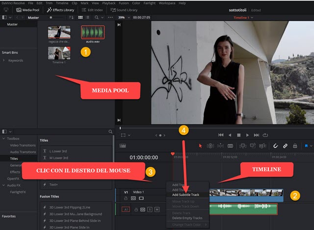 interfaccia di davinci resolve