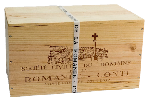 Domaine de la Romanee Conti OWC with plastic band  courtesy of PleasureWine.com