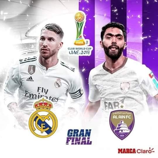 مباراة ريال مدريد والعين  نهائي كأس العالم للأندية