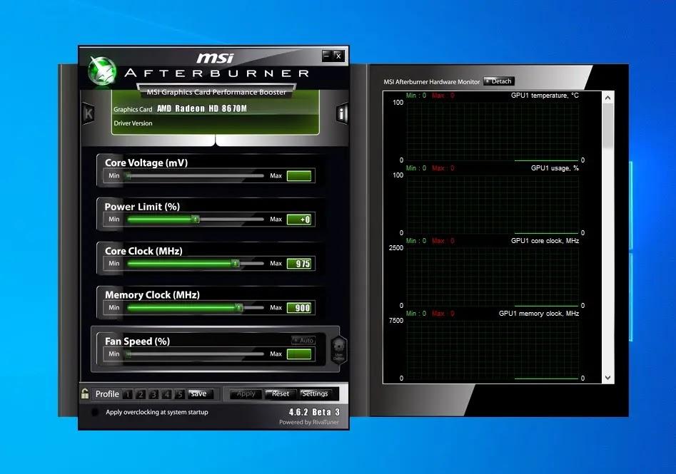 MSI Afterburner : Ανεβάστε ταχύτητα σε GPU και μνήμη στην κάρτα γραφικών  σας