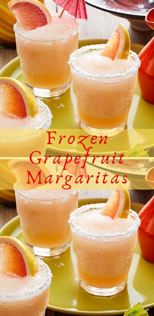 Frozen Grapefruit Margaritas