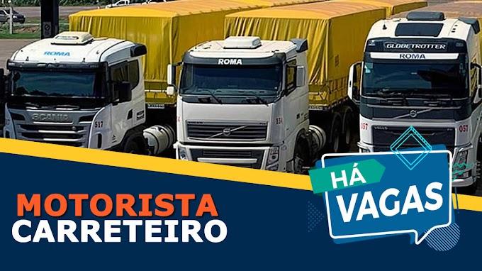 Grupo Roma transportes abre vagas para motorista carreteiro