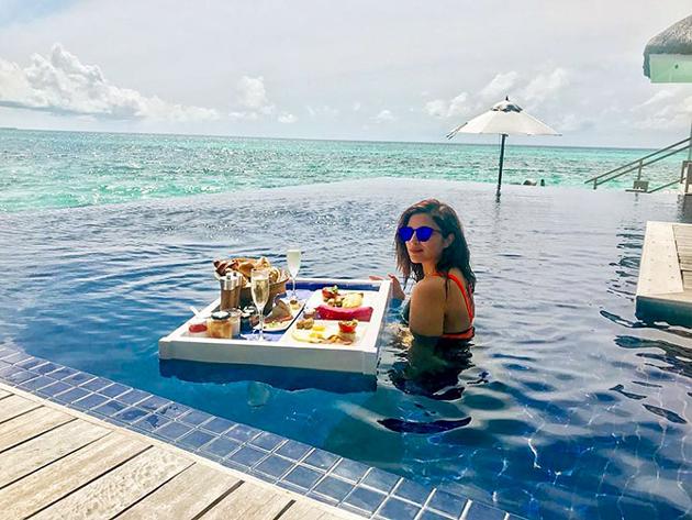 Actress Parineeti Chopra Enjoying in Maldives Pics Actress Trend