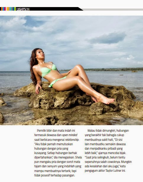 Shela Nadine Sexy On The Beach at Male Magazine, November 2013 Edition