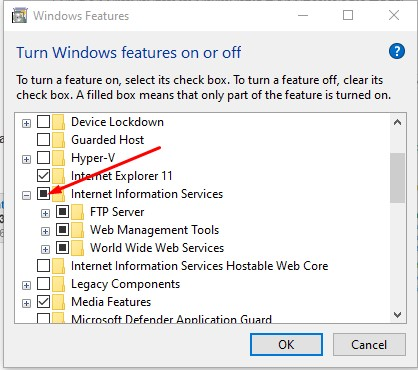 Cara Mengaktifkan Internet Information Services (IIS) Manager di Windows 10