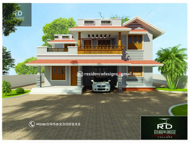 1800 sq ft 3 bhk Kerala Small House Design by Bibin