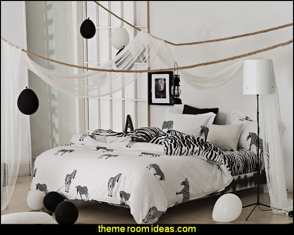 Black Whtie Zebra Bedding Sets  zebra print bedroom decorating ideas - zebra print decor - zebra print bedrooms - wild animal decorating ideas - zebra theme room ideas - Zebra Print Wall Decal - zebra bedding - zebra print throw pillows