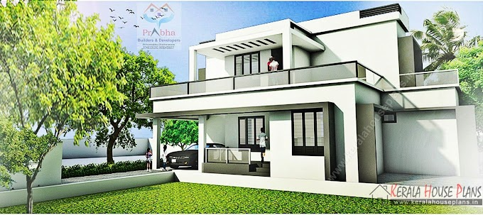 Contemporary Kerala Model House Elevation and floor Details 1718 square feet