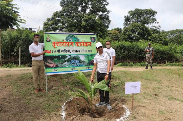एसएसबी 19 वी वाहिनी के वाहिनी मुख्यालय और सभी समवाय में आज वृक्षारोपण कार्यक्रम का आयोजन किया गया।