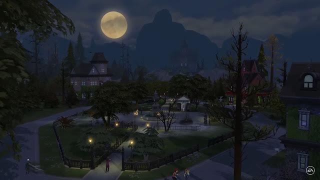 Le quartier Forgotten Hollow du pack de jeu Vampire sur Les Sims 4.