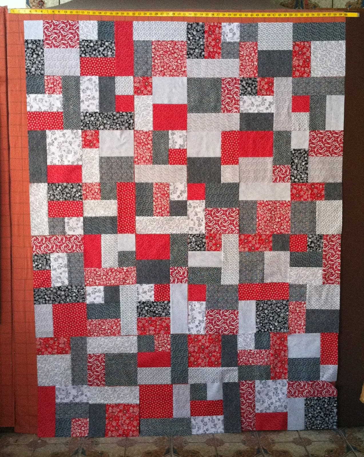 Red, White and Black Quilt, Yellow Brick Road Quilt