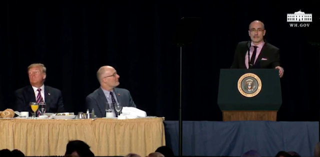 Nat'l Prayer Breakfast speaker tells audience including Trump