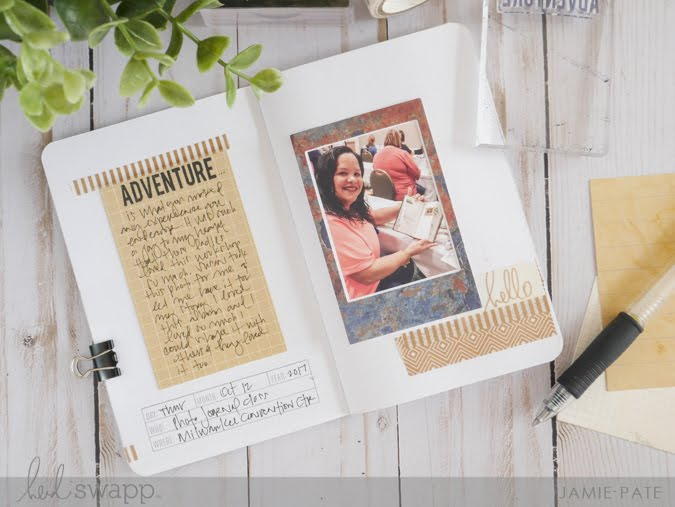 How To Create a Photo Album with the Heidi Swapp Instax  Vintage Mini Journaling Kit by Jamie Pate | @jamiepate for @heidiswapp