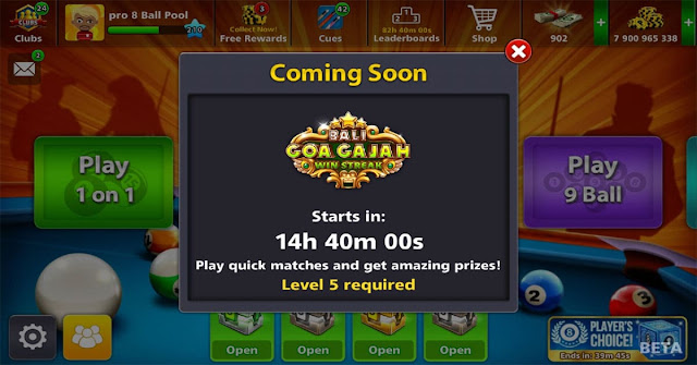 8 Ball Pool Goa Gajah Win Streak