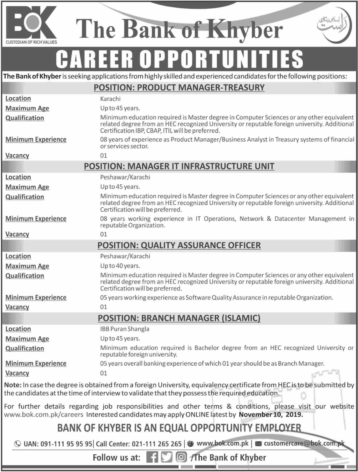 jobs-in-bank-of-khyber-bok