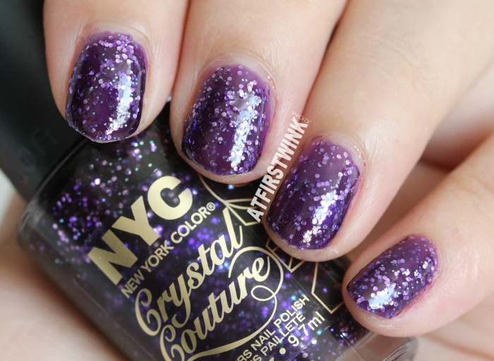 NYC Crystal Couture glitters nail polish 013 - NY Princess swatch