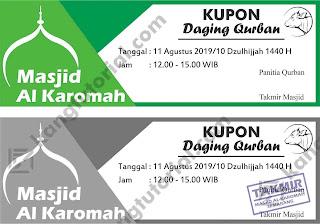 Download Contoh Desain Kupon Qurban 2019 Format CDR