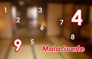 Números de la mala suerte en Japón 9 y 4