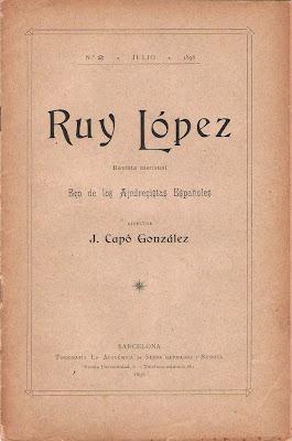 Portada del nº 2 de la Revista de Ajedrez Ruy López