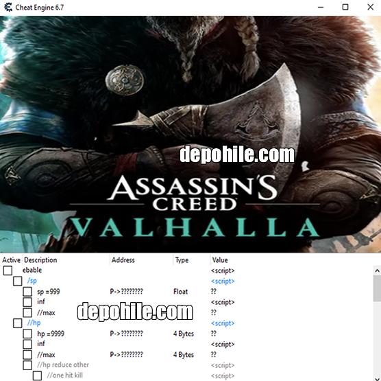 Assassins Creed Valhalla PC Çalışan Trainer Hilesi İndir CT 2021
