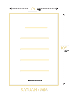 Ukuran kertas A7 dalam mm