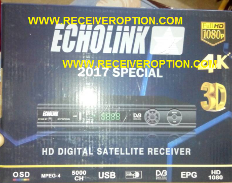 ECHOLINK 2017 SPECIAL HD RECEIVER BISS KEY OPTION