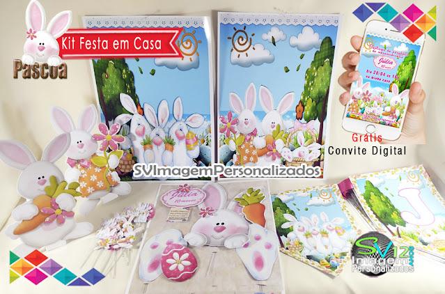 dicas e ideias para decoração de festa personalizados Páscoa