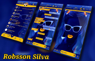 Girl yellow blue Theme For YOWhatsApp & Fouad WhatsApp By R̳o̳b̳s̳s̳o̳n̳