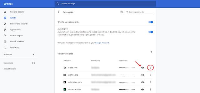 Melihat dan Menghapus Password Tersimpan di Chrome PC