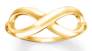 infinity ring, kay jewelers, solid gold jewelry, gold ring, popular gold rings